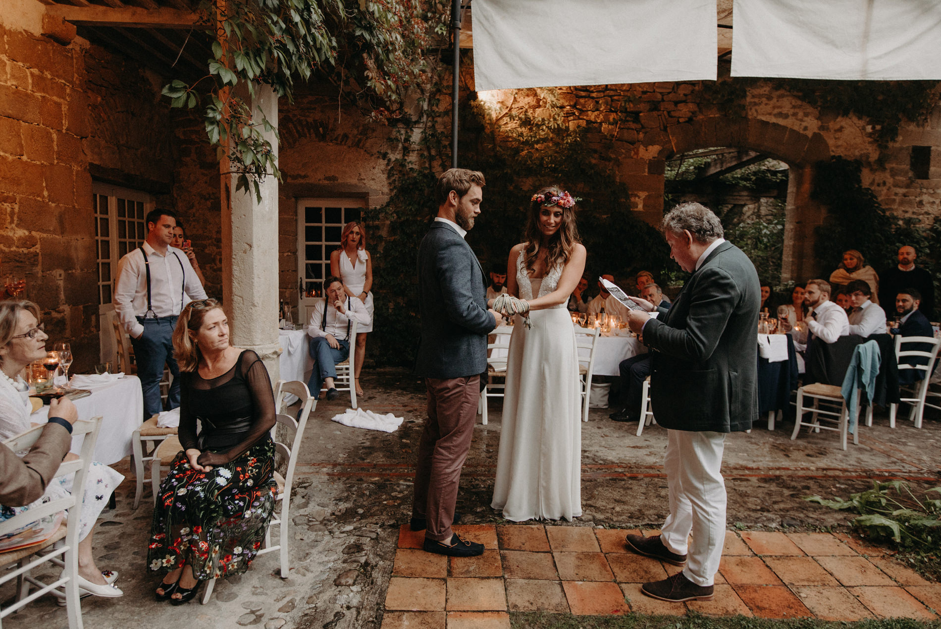 Labbaye chateau de camon wedding